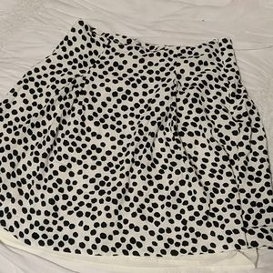 Loft side- zip polka dot mini skirt size 6p